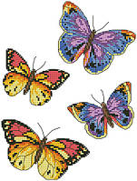 """Схема для вышивки на водорастворимом флизелине """"Бабочки"""""""