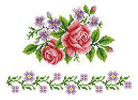 """Схема для вышивки на водорастворимом флизелине """"Узор цветы"""""""