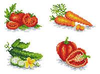 """Схема для вышивки на водорастворимом флизелине """"Овощи"""""""