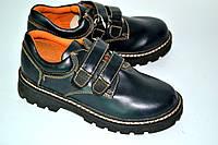 Туфли детские Bump на липучке OK-7034 (сине-черный)
