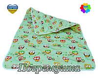 Детское стеганое одеяло синтепон-хлопок-Зеленый