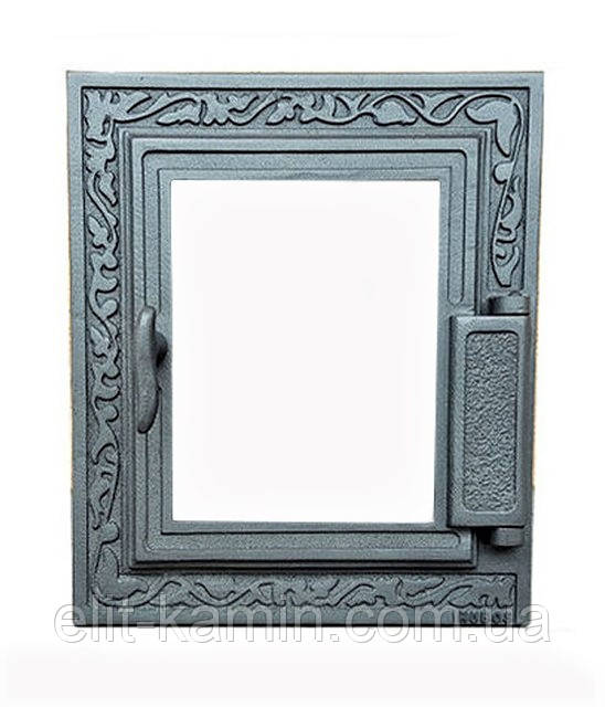 Печные дверцы со стеклом Halmat Н1616 (355x325)