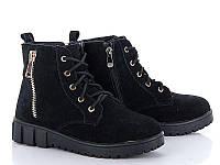 Зимние женские ботинки на шнурках натуральная замша