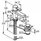 KLUDI ZENTA XL - Однорычажный смеситель на умывальник DN 10 с донным клапаном, хром. 382600575, фото 2
