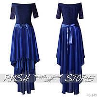 Асимметричное платье в пол