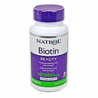 Витамины Natrol Biotin Биотин Максимальная сила 10мг 100 таб. оригинал из США
