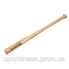 Бита бейсбольная деревянная длина 71 см C-1873