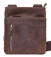 Мужская кожаная сумка планшет Mk13 коричневый матовый