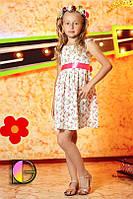 Платье детское с цветочным принтом