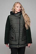 Женская  куртка с паеткой на бархате, 52-66рр оливка, фото 2
