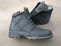 Мужские зимние ботинки ECCO из натуральной кожи на цигейке