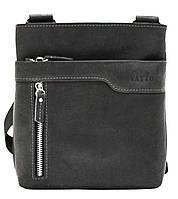 Мужская кожаная сумка планшет Mk13 черый матовый