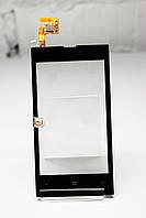 Тачскрин (Сенсор дисплея) Nokia Lumia 520 черный с клейкой основой H/C