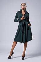 Нарядное платье бутылочного цвета