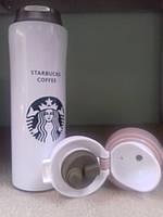 Термос Starbucks coffee (Старбакс кави) 480 мл, білий, фото 1