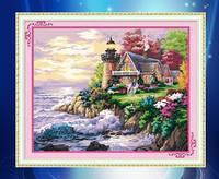 """Алмазная мозаика """"Домик у моря"""""""