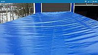 Баннерное полотно (армированный стеклонитью ПВХ) б/у с люверсами (металлические кольца)