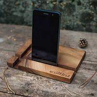 Подставка для телефона из дерева Прямоугольник