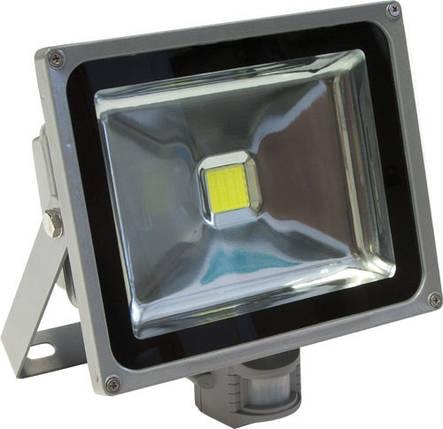 Светодиодный прожектор 30W 6000K 2700LM с датчиком движения, фото 2