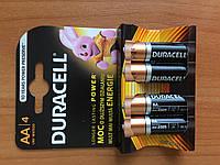 Батарейки Duracell Basic пальчиковые АА LR6 (4 штуки в упаковке)