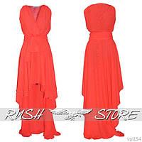Асимметричное платье из шифона