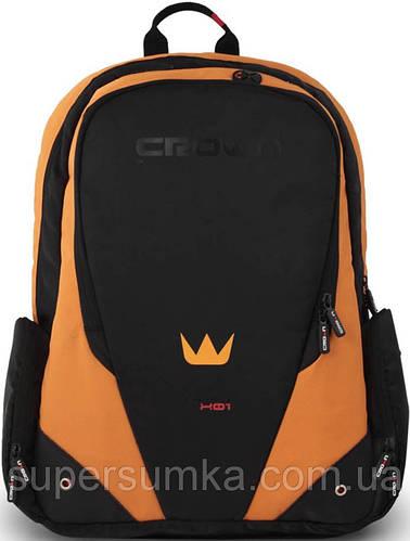 Рюкзак Crown Vigorous Series для ноутбука 17 дюймов, BPV117BO черный/оранжевый