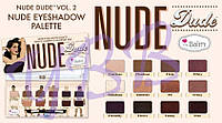 Палетка теней Nude Dude Palette от theBalm