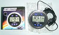 Компактные авточасы с наружным датчиком температуры VST 7042 V