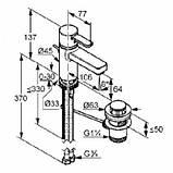 KLUDI ZENTA - Однорычажный смеситель на умывальник DN 10 с донным клапаном, хром 382500575, фото 2