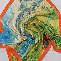 Палантин женский из шелка разноцветный