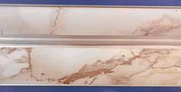 Карниз алюминиевый 2,0 м, светлый мрамор