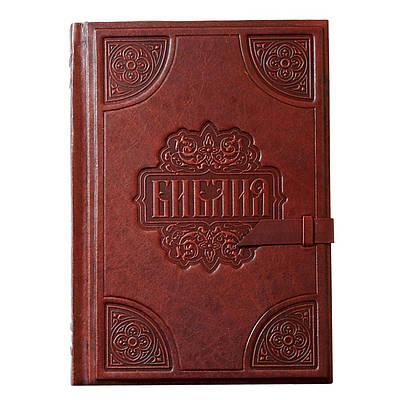 Библия большая (24х18х5) в кожаном переплете