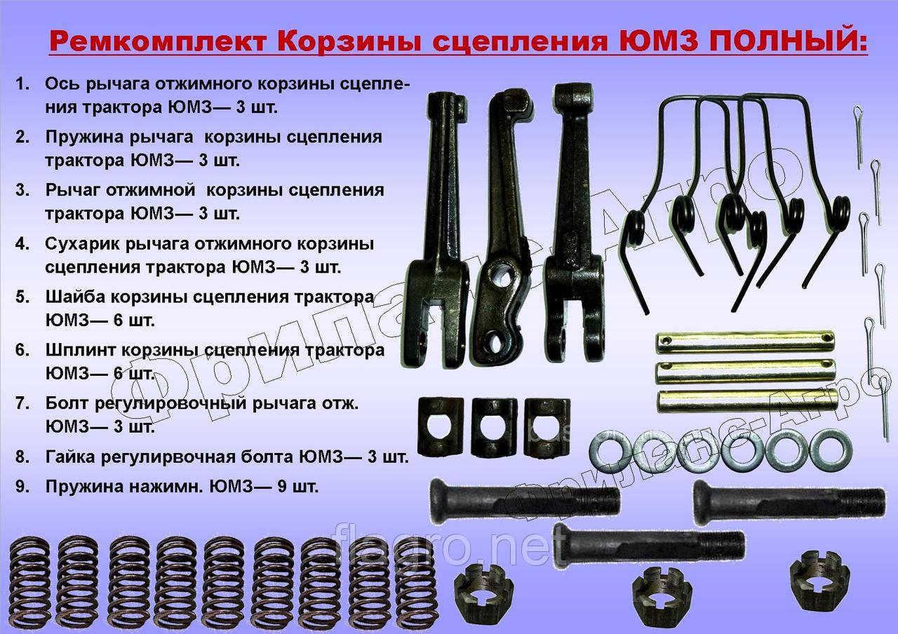 Ремкомплект корзины сцепления ЮМЗ, Д-65 (полный)