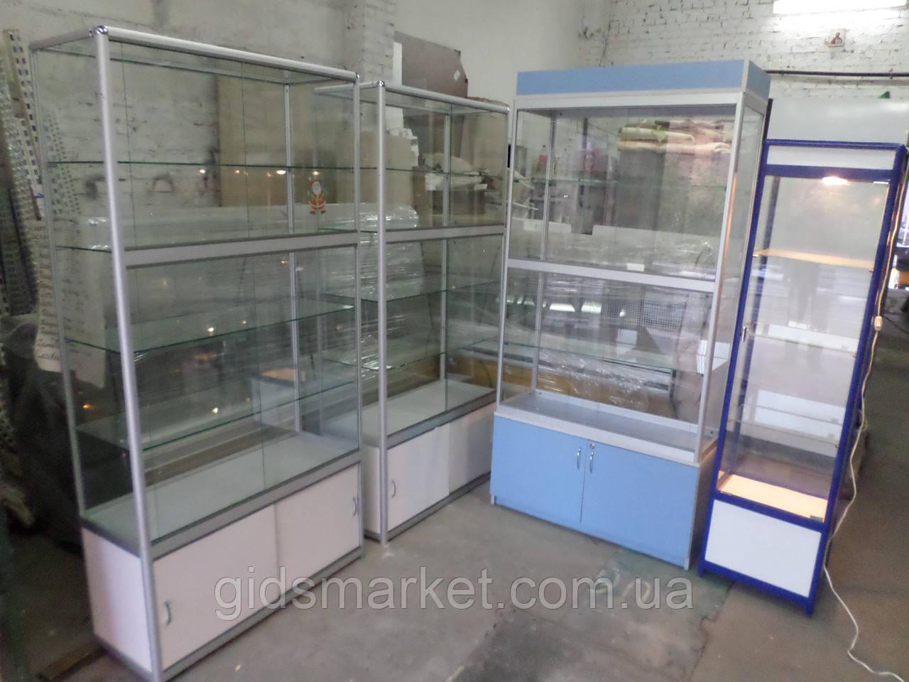 Витрина-шкаф стеклянный из ДСП бу, купить шкаф из ДСП б/у