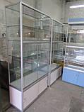 Витрина-шкаф стеклянный из ДСП бу, купить шкаф из ДСП б/у, фото 2