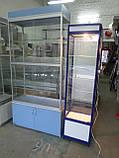 Витрина-шкаф стеклянный из ДСП бу, купить шкаф из ДСП б/у, фото 3