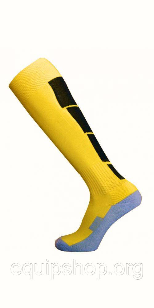 Гетры футбольные Europaw CTM-003 взрослые цвет: желтый/черный