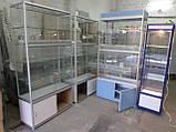 Витрина-шкаф стеклянный из ДСП бу, купить шкаф из ДСП б/у, фото 4