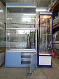 Витрина-шкаф стеклянный из ДСП бу, купить шкаф из ДСП б/у, фото 5