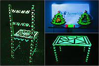 Acmelight Wood - светящаяся краска для деревянных поверхностей 0.5 л