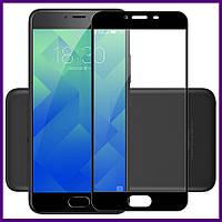 Защитное стекло 3D на весь экран для смартфона Meizu M5c (BLACK)