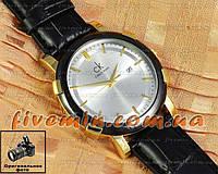 Наручные часы Calvin Klein Quartz Date Gold White унисекс кварцевые отличное качество модный стиль