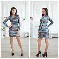 Прямое платье из аногры с люрексом 113144