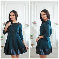 Замшевое платье с вставками из кожзама 113143