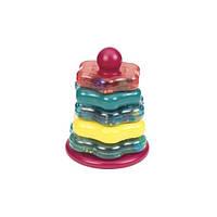 Цветная пирамидка развивающая игрушка 7 предметов