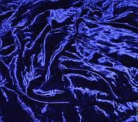 Бархат однотнный синий, высота 2.80