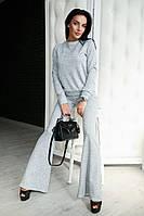 Ангоровый женский костюм со штанами клеш 707079
