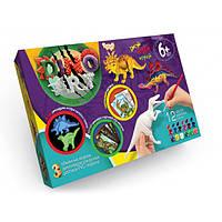 Набор для творчества раскраска динозавров Dino Art Danko Toys
