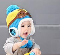 Шапка зимняя на завязках для ребенка