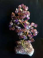 Деревья из самоцветов, сувенирное деревце из аметиста, размер L
